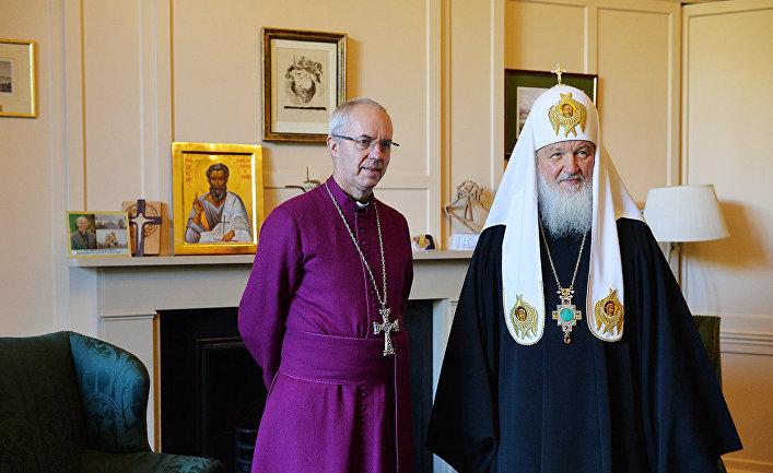 Встреча патриарха Кирилла и архиепископа Кентерберийского Джастина Уэлби в Лондоне