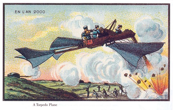 Карточка серии «Франция в 2000 году» — «Самолёт-торпедоносец»