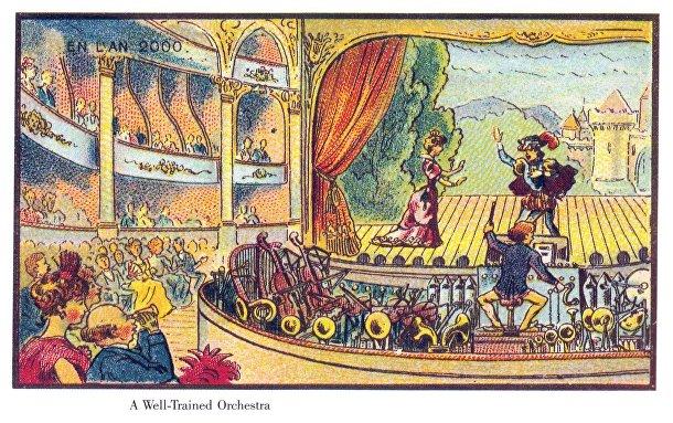 Карточка серии «Франция в 2000 году» — «Механический оркестр»