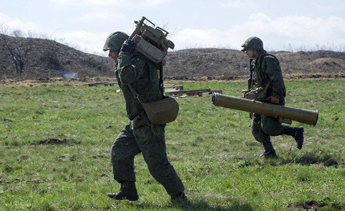 Военные учения Народной милиции ЛНР