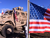 Военная техника и флаг США