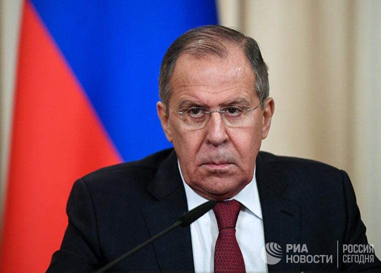 Министр иностранных дел РФ Сергей Лавров на пресс-конференции. 17 ноября 2017