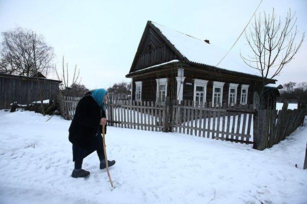 Екатерина Панченя в Белорусской деревне Погост
