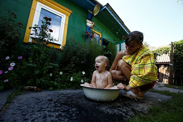 Жители Белорусской деревни Погост