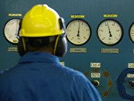 Работник газовой станции PGNiG в окресностях Варшавы, Польша