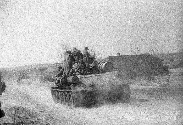 Танки 64-ой армии на подступах в Сталинграду