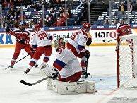 Игра сборной России по хоккею