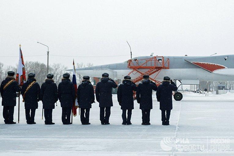 Возвращение бомбардировщиков Ту-22М3 в место постоянного базирования в Иркутской области