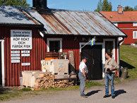 Мужчины в шведской деревне