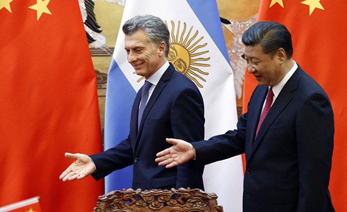Председатель КНР Си Цзиньпин и президент Аргентины Маурисио Макри