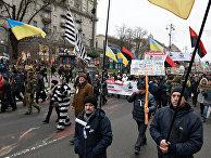 Марш сторонников М. Саакашвили в Киеве