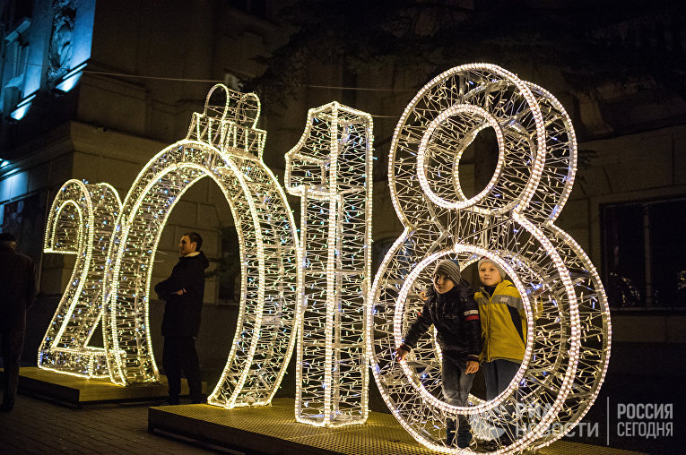Открытие главной новогодней елки на площади Нахимова в Севастополе