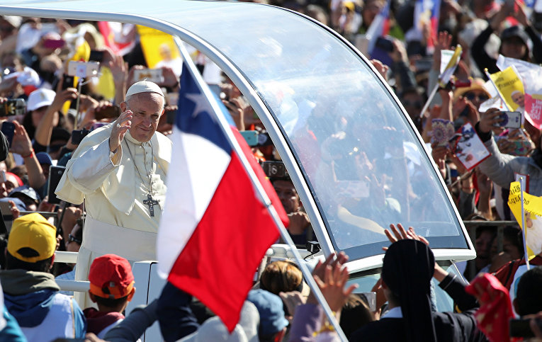 Папа Римский Франциск в Темуко, Чили