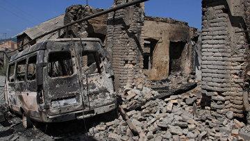 Цхинвал после разрушений