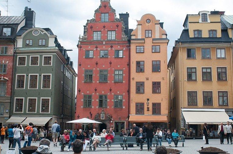 Старый город в центре Стокгольма