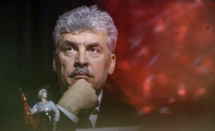 Пресс-конференция кандидата в президенты РФ П. Грудинина в Санкт-Петербурге