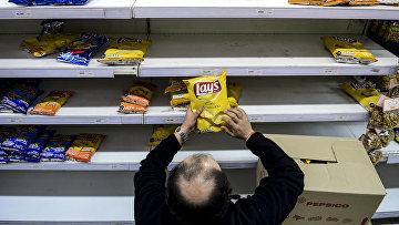 Работа продуктового магазина в Сантьяго, Чили