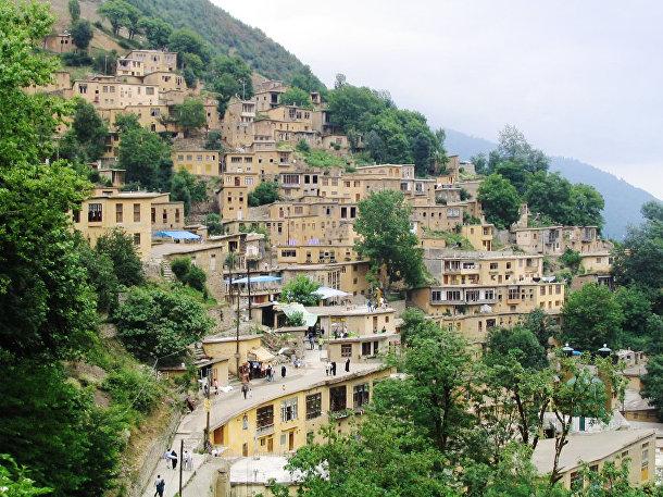 Деревня Масуле в Иране