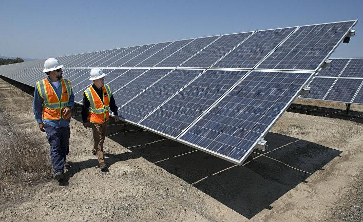 Солнечная электростанция в Вакавилле, Калифорния, США