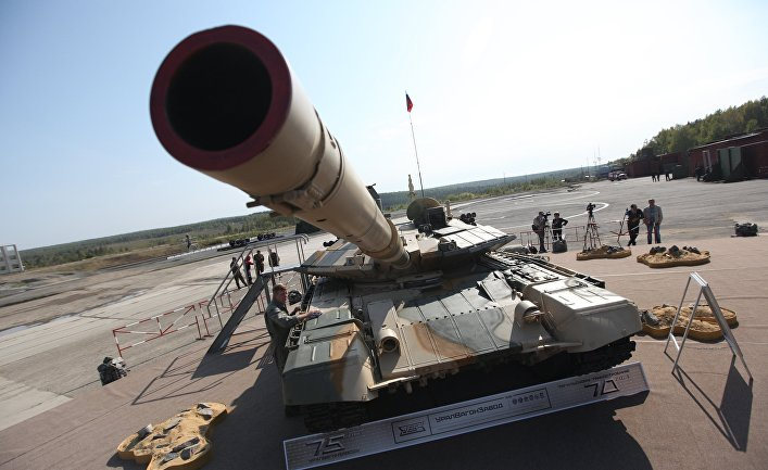 Танк Т-90АМ представленный на VIII Международной выставке вооружения