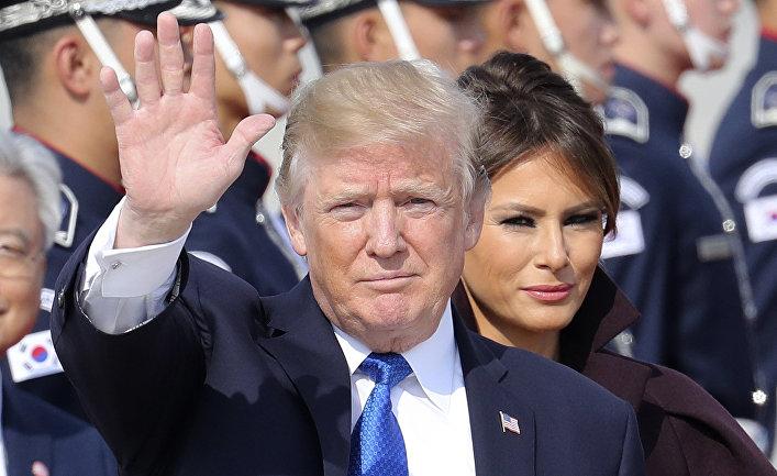 Президент США Дональд Трамп и первая леди Меланья Трамп