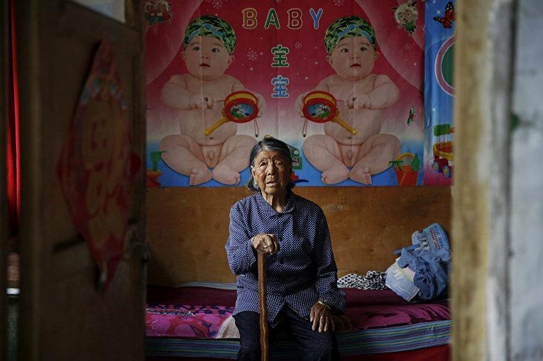 Хао Юэлянь в своем доме в городе Тайюань, провинция Шаньси