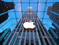 """Магазин """"Эпл"""" на Пятой авеню,  Нью-Йорк, США"""