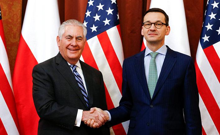 Государственный секретарь США Рекс Тиллерсон и премьер-министр Польши Матеуш Моравецкий