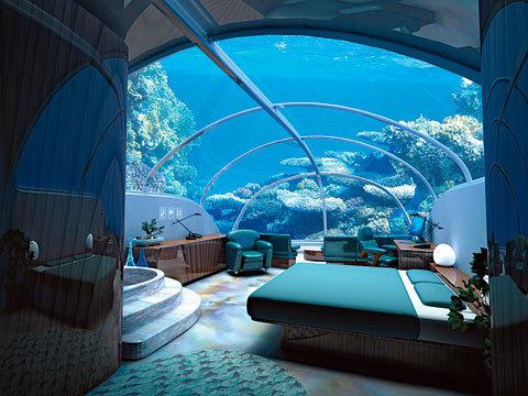 """Так буде выглядеть номер в подводной гостинице """"Курорт Посейдона"""""""