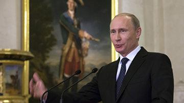Владимир Путин на праздновании 250-летия Эрмитажа