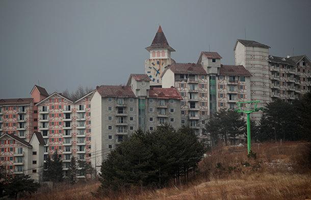 Лыжный курорт, приходящий в упадок в преддверии Олимпийских игр в Южной Корее