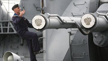 "Крейсер ""Варяг"" на учениях Тихоокеанского флота"