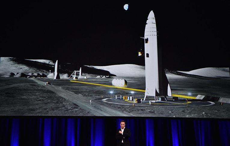 Основатель SpaceX Илон Маск выступает на 68-М Международном астронавтическом конгрессе