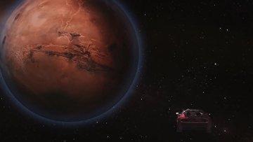Спорткар Маска на орбите Марса