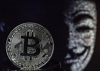 Сувенирные монеты с логотипами криптовалюты биткоин