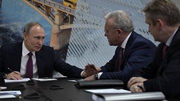 Президент РФ Владимир Путин во время встречи по вопросам экологической ситуации в Красноярском крае. 7 февраля 2018