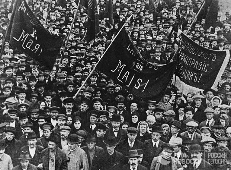 Первомайская демонстрация в Харькове в 1917 году