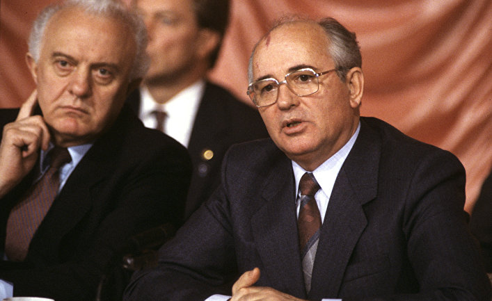 Михаил Горбачев и Эдуард Шеварднадзе
