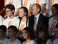 """Президент РФ В. Путин посетил образовательный центр """"Сириус"""" в Сочи"""