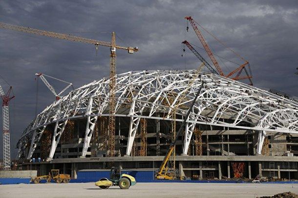 Строительство олимпийского стадиона в Сочии