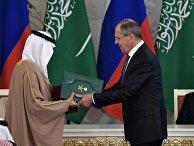 Переговоры президента РФ Владимира Путина с королем Саудовской Аравии Сальманом Аль-Саудом. 5 декабря 2017