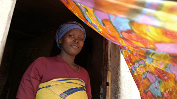 19-летняя проститутка в городе Гисеньи, Руанда