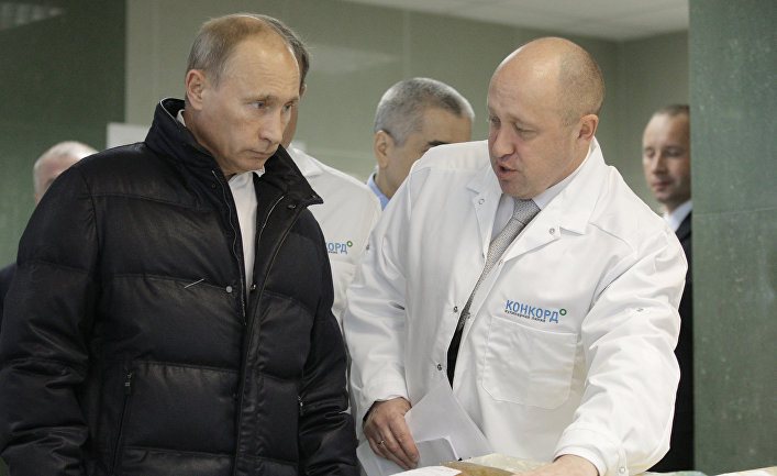Владимир Путин и Евгений Пригожин
