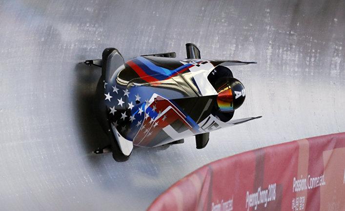 Команда по по бобслею из США на зимних Олимпийских играх 2018 года в Пхенчхане