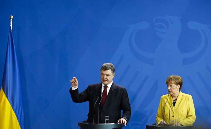 Встреча президента Украины Петра Порошенко с канцлером ФРГ Ангелой Меркель в Берлине