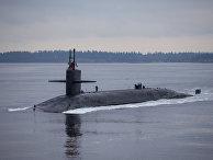 """Американская подводная лодка """"Пенсильвания"""" возвращается на базу ВМС Китсап"""
