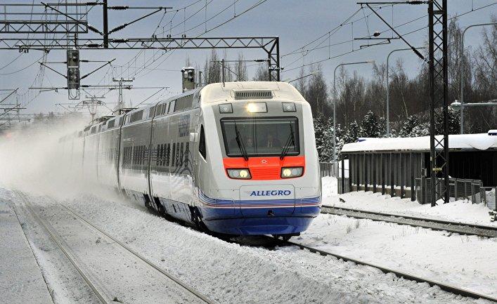 Поезд Allegro в Хельсинки, Финляндия