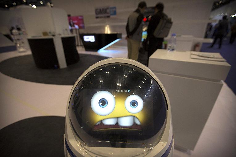Робот на глобальной конференции мобильного интернета (GMIC) в Пекине, КНР