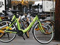 Прокатные велосипеды Gobee.bike в Париже