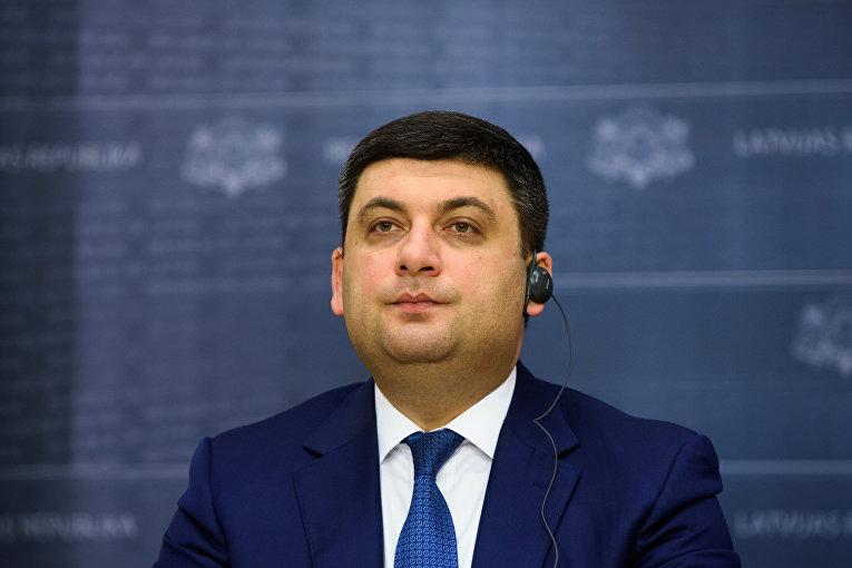 Встреча премьер-министра Украины Владимира Гройсмана и предьер-министра Латвии Мариса Кучинского